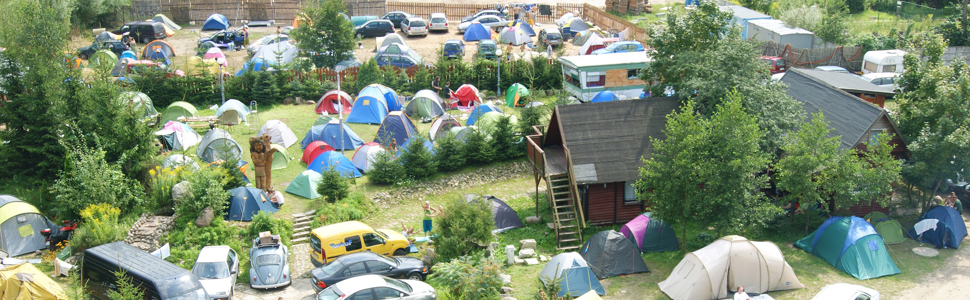 Camping, pole namiotowe, domki letnie Ostróda